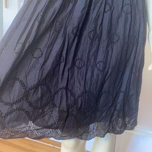 dELIa*s black eyelet cotton sleeveless dress